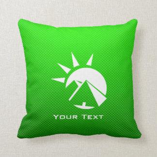 Green Egyptian Pyramid Throw Pillow
