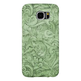 Green Egyption Scroll Texture Neutral Samsung Galaxy S6 Case