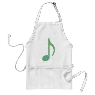Green Eighth Note Adult Apron