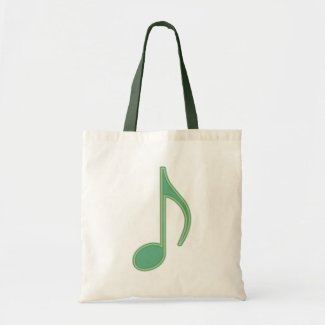 Green Eighth Note bag