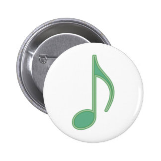 Green Eighth Note 2 Inch Round Button