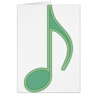 Green Eighth Note Card