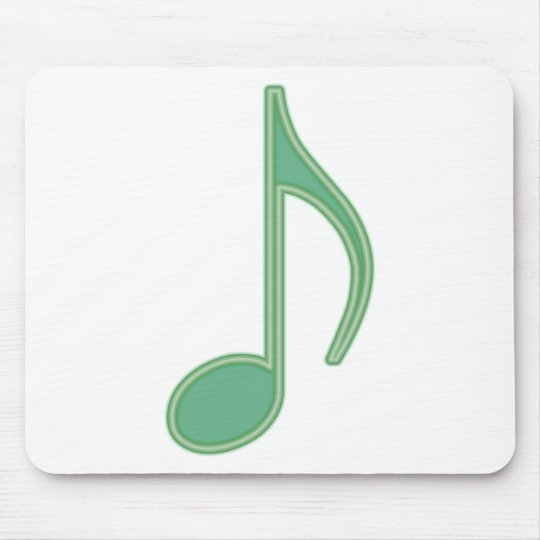 Green Eighth Note Mouse Pad