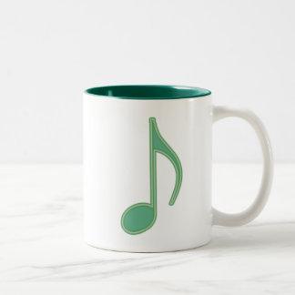 Green Eighth Note Mugs