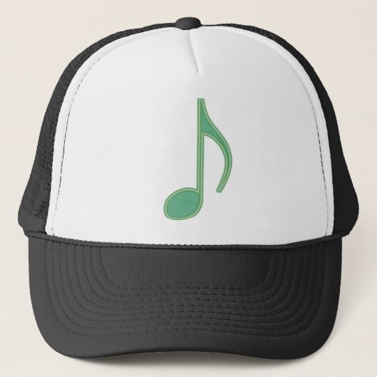 Green Eighth Note Trucker Hat