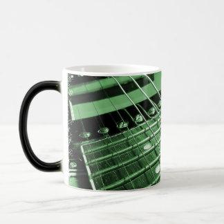 Green Electric Guitar Close-up 11 Oz Magic Heat Color-Changing Coffee Mug