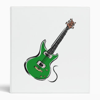 green electric guitar music graphic.png 3 ring binder