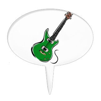 green electric guitar music graphic.png cake toppers
