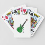 green electric guitar music graphic.png bicycle poker deck