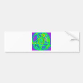 Green Electric Penatgram Car Bumper Sticker