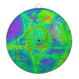 Green Electric Penatgram Dartboard With Darts