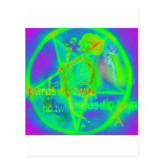 Green Electric Penatgram Postcard