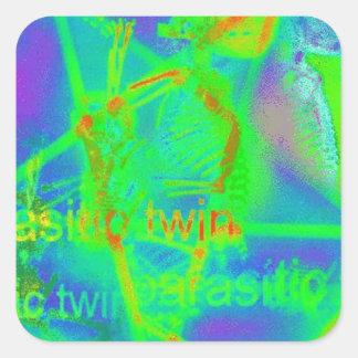 Green Electric Penatgram Square Sticker