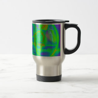 Green Electric Penatgram Travel Mug
