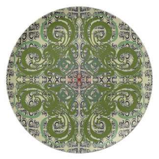 Green Elegance Plate by Alexandra Cook