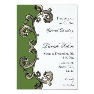 """green Elegant Corporate party Invitation 5"""" X 7"""" Invitation Card"""