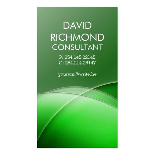 Green Elegant Professional and Sleek Business Card : Zazzle