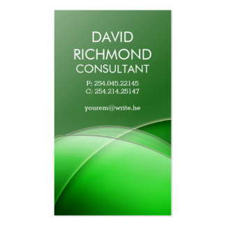 Green Elegant Professional and Sleek Double-Sided Standard Business Cards (Pack Of 100)