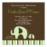 Green Elephant (Boy or Girl Neutral) 5x5 Invite