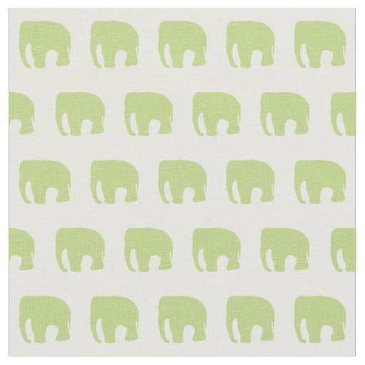 Green Elephant Fabric Nursery
