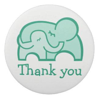 Green elephant hug teacher thank you eraser