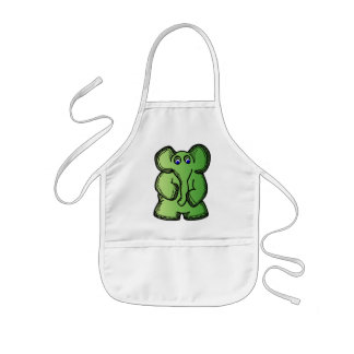 Green Elephant Kids' Apron