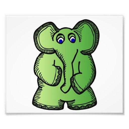 Green Elephant Photograph