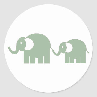 Green Elephant Stickers