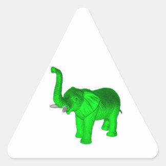 Green Elephant Triangle Sticker