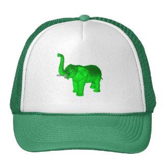 Green Elephant Trucker Hat