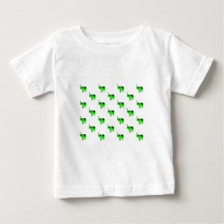 Green Elephants Pattern Baby T-Shirt