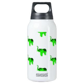 Green Elephants Pattern Thermos Water Bottle
