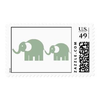 Green Elephants Stamps