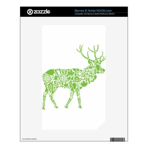Green Elk Skin For NOOK Color