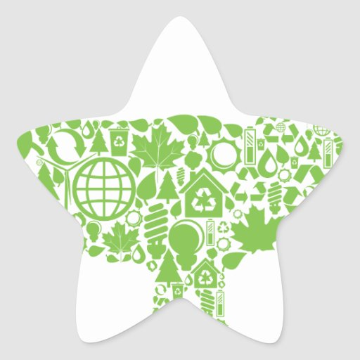 Green Elk Star Sticker