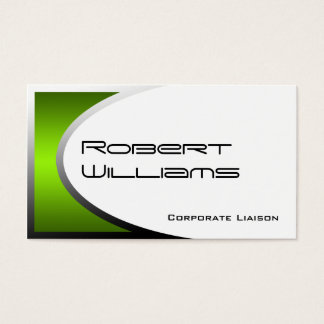 Green Ellipse Modern Professional Business Card