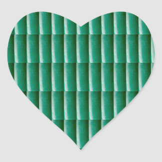 Green Embossed Stripes TEMPLATE add TEXT IMG Gifts Heart Sticker