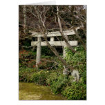 Green Embraced Torii-NY Greeting Card