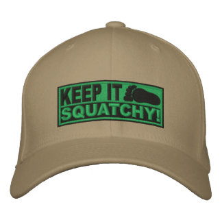 Green *EMBROIDERED* Keep It Squatchy! - Bobo's Embroidered Hats
