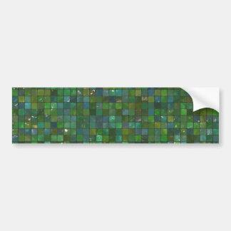 Green Emerald Shiny Glass Tiles Texture Background Car Bumper Sticker