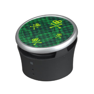 Green Emo Pattern With Circles Bluetooth Speaker