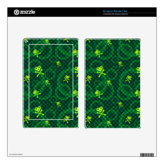 Green Emo Pattern With Circles Kindle Fire Decals