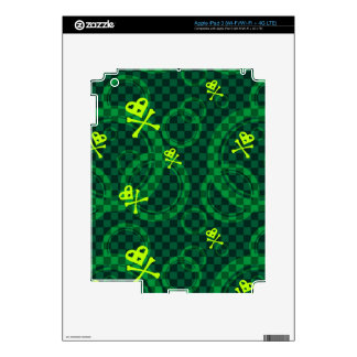 Green Emo Pattern With Circles Skin For iPad 3