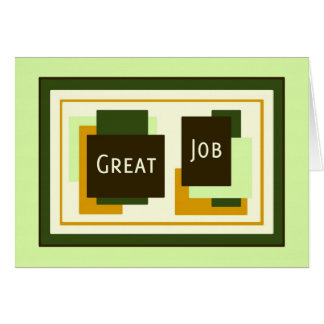 Green Employee Appreciation Great Job Card