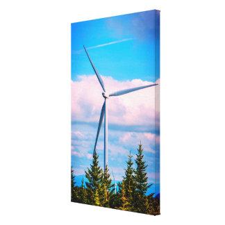 Green Energy | Big Wind Turbine Canvas Print