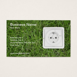 Renewable energy business cards templates zazzle green energy business card reheart Image collections