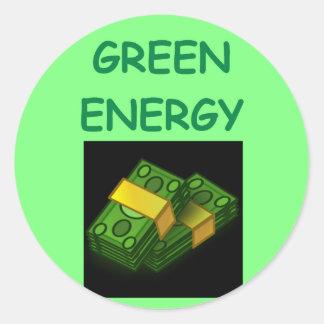 green energy classic round sticker