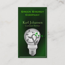Green Energy Environmental Business Card