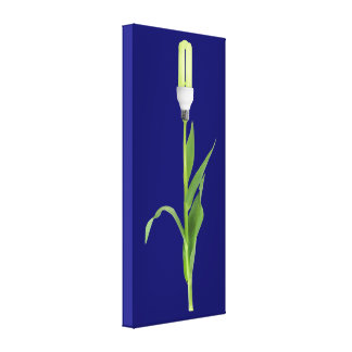 Green Energy Flower Wrapped Canvas Gallery Wrap Canvas