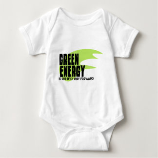 Green Energy is the Only Way Forward Baby Bodysuit
